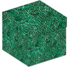 Hexagon1 Black Marble & Green Marble Storage Stool 12