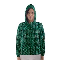 HXG1 BK-GR MARBLE Hooded Wind Breaker (Women)