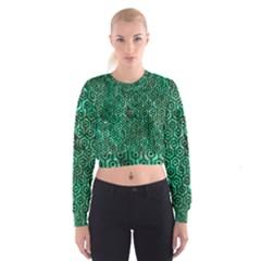 HXG1 BK-GR MARBLE Women s Cropped Sweatshirt