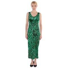 HXG1 BK-GR MARBLE Fitted Maxi Dress