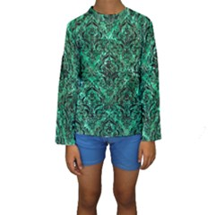 DMS1 BK-GR MARBLE (R) Kid s Long Sleeve Swimwear
