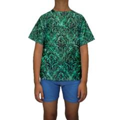 DMS1 BK-GR MARBLE (R) Kid s Short Sleeve Swimwear