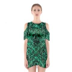 DMS1 BK-GR MARBLE Cutout Shoulder Dress