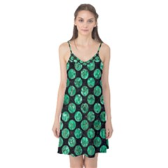 Circles2 Black Marble & Green Marble (r) Camis Nightgown