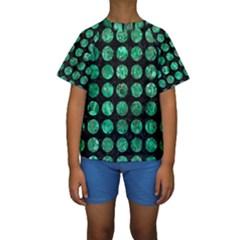 CIR1 BK-GR MARBLE (R) Kid s Short Sleeve Swimwear