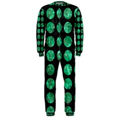 Circles1 Black Marble & Green Marble (r) Onepiece Jumpsuit (men)
