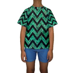 CHV9 BK-GR MARBLE (R) Kid s Short Sleeve Swimwear
