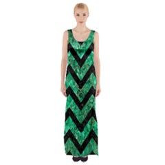 CHV9 BK-GR MARBLE (R) Maxi Thigh Split Dress