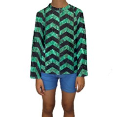 CHV2 BK-GR MARBLE Kid s Long Sleeve Swimwear