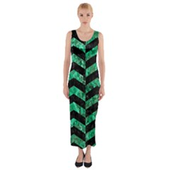 CHV2 BK-GR MARBLE Fitted Maxi Dress