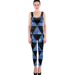 Triangle3 Black Marble & Blue Marble Onepiece Catsuit