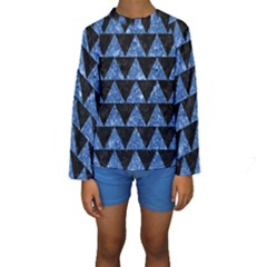 TRI2 BK-BL MARBLE Kid s Long Sleeve Swimwear