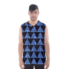 TRI2 BK-BL MARBLE Men s Basketball Tank Top