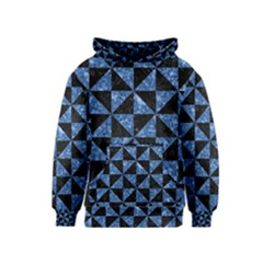 Triangle1 Black Marble & Blue Marble Kids  Pullover Hoodie