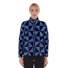 Triangle1 Black Marble & Blue Marble Winter Jacket
