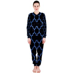 Tile1 Black Marble & Blue Marble (r) Onepiece Jumpsuit (ladies)