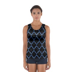 Tile1 Black Marble & Blue Marble (r) Sport Tank Top