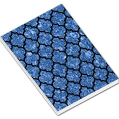 Tile1 Black Marble & Blue Marble Large Memo Pads