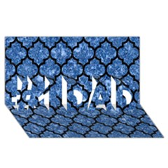 Tile1 Black Marble & Blue Marble #1 Dad 3d Greeting Card (8x4)