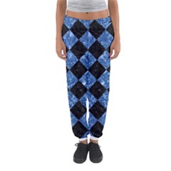 Square2 Black Marble & Blue Marble Women s Jogger Sweatpants