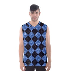 SQR2 BK-BL MARBLE Men s Basketball Tank Top