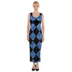 SQR2 BK-BL MARBLE Fitted Maxi Dress