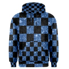 Square1 Black Marble & Blue Marble Men s Pullover Hoodie