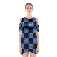 Square1 Black Marble & Blue Marble Shoulder Cutout One Piece
