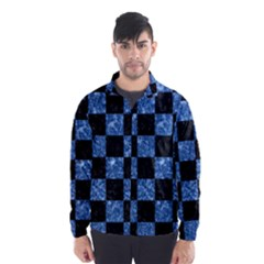 Square1 Black Marble & Blue Marble Wind Breaker (men)