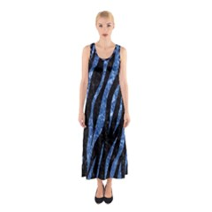 SKN3 BK-BL MARBLE (R) Full Print Maxi Dress