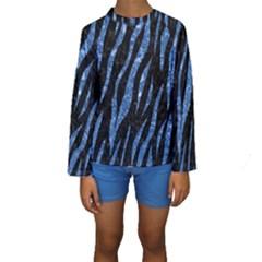 SKN3 BK-BL MARBLE (R) Kid s Long Sleeve Swimwear
