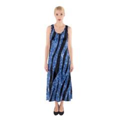 SKN3 BK-BL MARBLE Full Print Maxi Dress