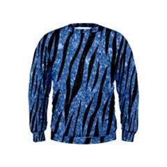 Skin3 Black Marble & Blue Marble Kids  Sweatshirt