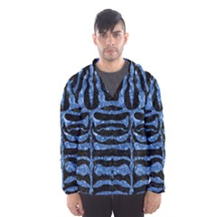 Skin2 Black Marble & Blue Marble (r) Hooded Wind Breaker (men)