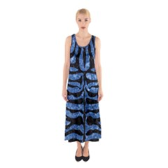 SKN2 BK-BL MARBLE Full Print Maxi Dress