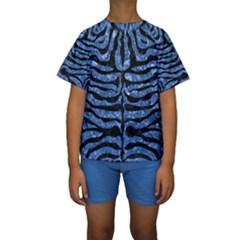 SKN2 BK-BL MARBLE Kid s Short Sleeve Swimwear