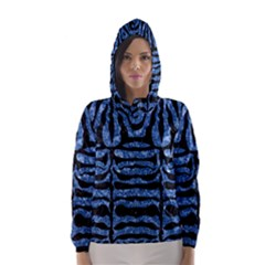 SKN2 BK-BL MARBLE Hooded Wind Breaker (Women)