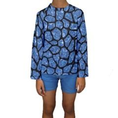 SKN1 BK-BL MARBLE (R) Kid s Long Sleeve Swimwear