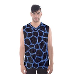 SKN1 BK-BL MARBLE Men s Basketball Tank Top