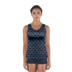 Scales2 Black Marble & Blue Marble (r) Sport Tank Top