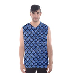 SCA1 BK-BL MARBLE Men s Basketball Tank Top