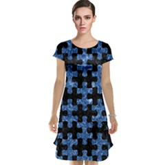 Puzzle1 Black Marble & Blue Marble Cap Sleeve Nightdress