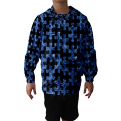 Puzzle1 Black Marble & Blue Marble Hooded Wind Breaker (kids)