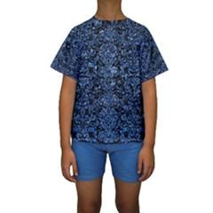 DMS2 BK-BL MARBLE (R) Kid s Short Sleeve Swimwear