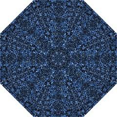 Damask2 Black Marble & Blue Marble Hook Handle Umbrella (medium)