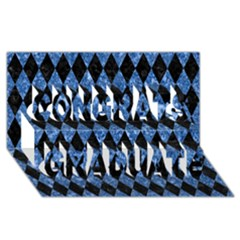Diamond1 Black Marble & Blue Marble Congrats Graduate 3d Greeting Card (8x4)