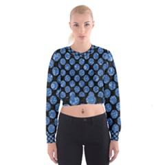 CIR2 BK-BL MARBLE (R) Women s Cropped Sweatshirt