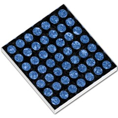 Circles1 Black Marble & Blue Marble (r) Small Memo Pads