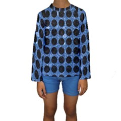 CIR1 BK-BL MARBLE Kid s Long Sleeve Swimwear