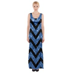 Chv9 Bk Bl Marble (r) Maxi Thigh Split Dress